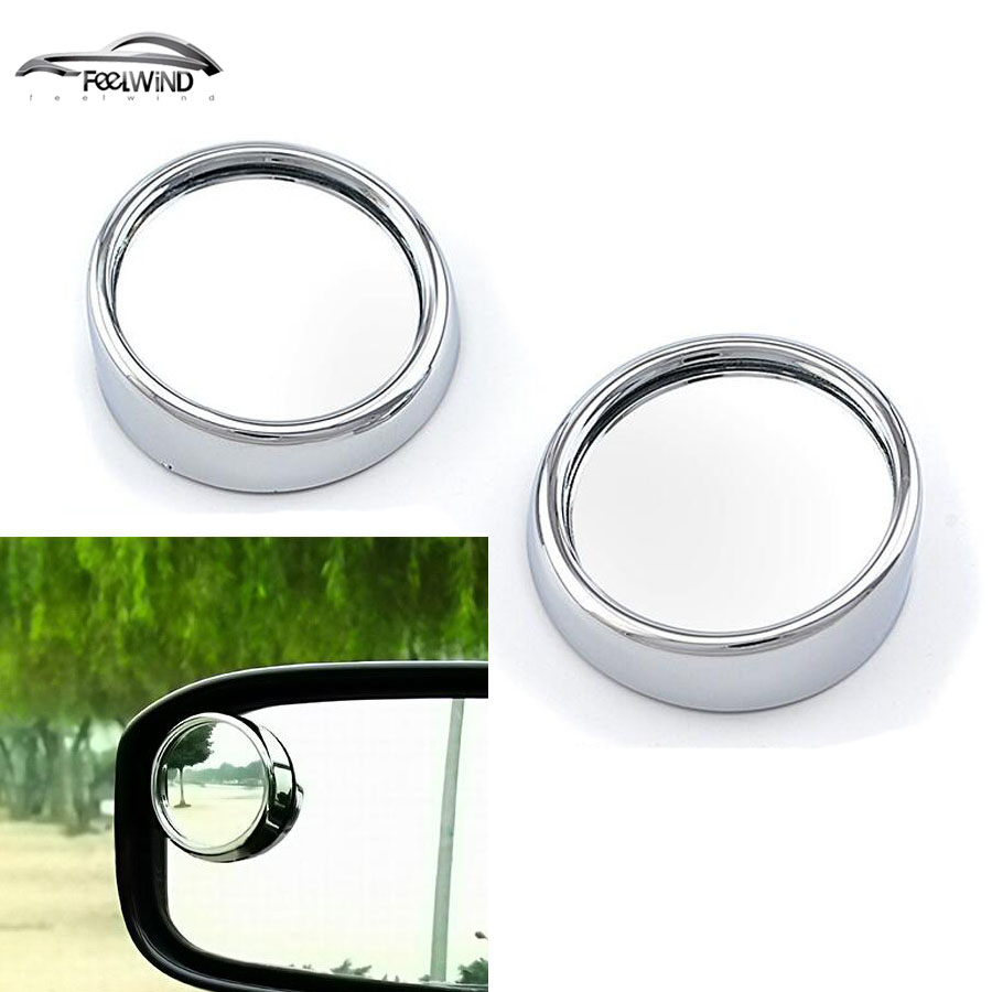 1pair Auto Side 360 Wide Angle Round Convex Mirror Car Vehicle Blind Spot Dead Zone Rearview Small