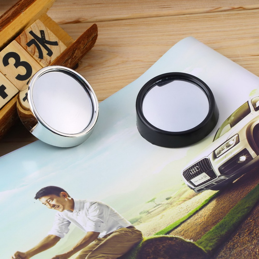 Whole 1pair Mini Rearview Car Mirror Wide Angle Round Blind Spot Side Rear View Auto Convex Styling Free