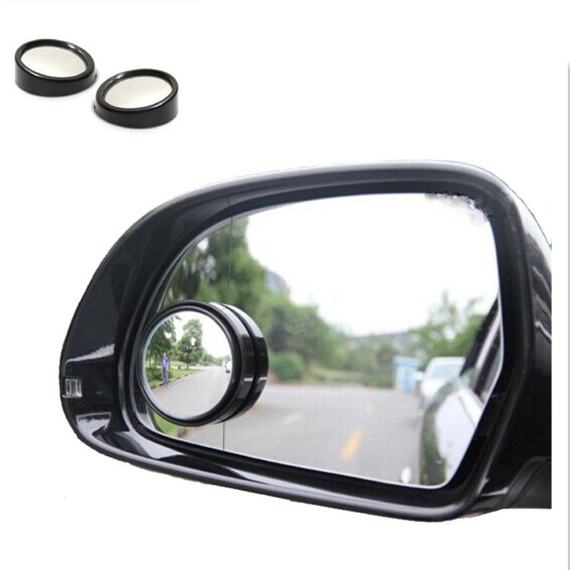 Car Rearview Blind-Spot Side Rear View Mirror Convex Wide Angle Adjustable Auto