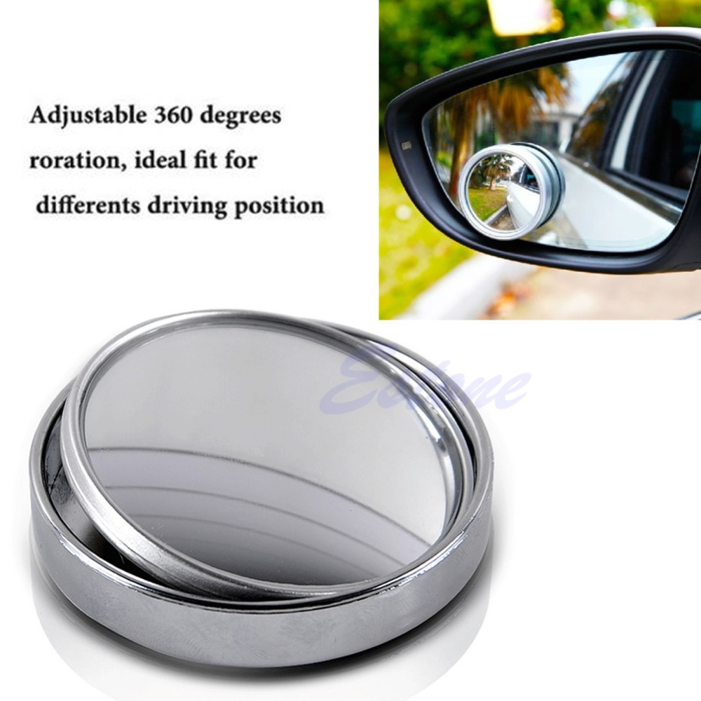 Wide Angle Convex Car Auto Blind Spot Round Stick On Side
