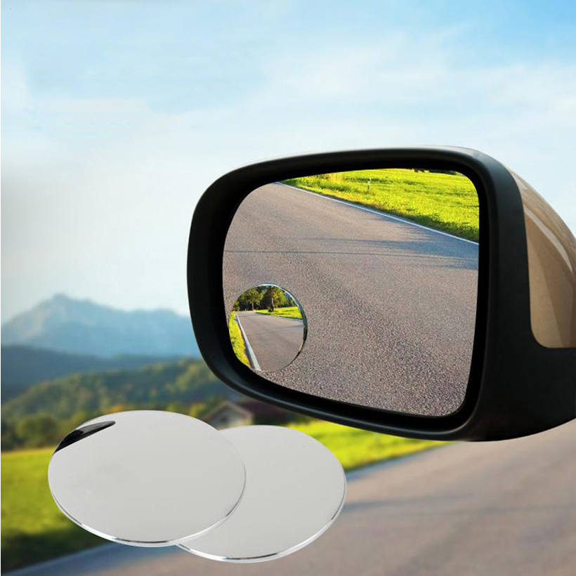 1 Pair Slim Car Rear View Mirror 360° Rotating Wide Angle Blind Spot Mirror NEW